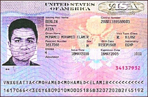 Mohamed Atta's U.S. visa issued in Berlin, Germany on May 18, 2000, 10 ...